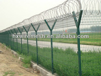 powder coated low carbon steel airport fence
