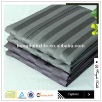 ISO 9001 Factory Custom fancy cheap polyester 2cm/2.5cm stripe satin fabric,home textile,garment fabric suppliers
