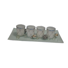2017 China cheap glass candle cups tealight