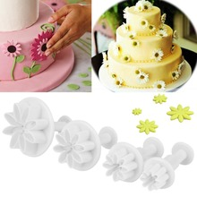 4Pcs Cute Chrysanthemum Flower Daisy Cake Chocolate Jelly Making Mold Tool