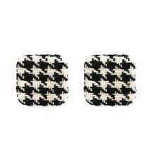 Zooying Scotland Grid Fastener Fabrics Earring
