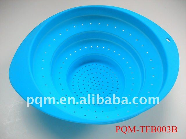 Silicone kitchenware collapsible colander 003B