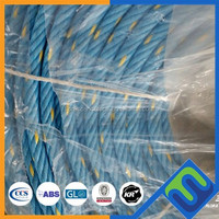 high corrosion resistance 4 strand pp combination rope for mooring