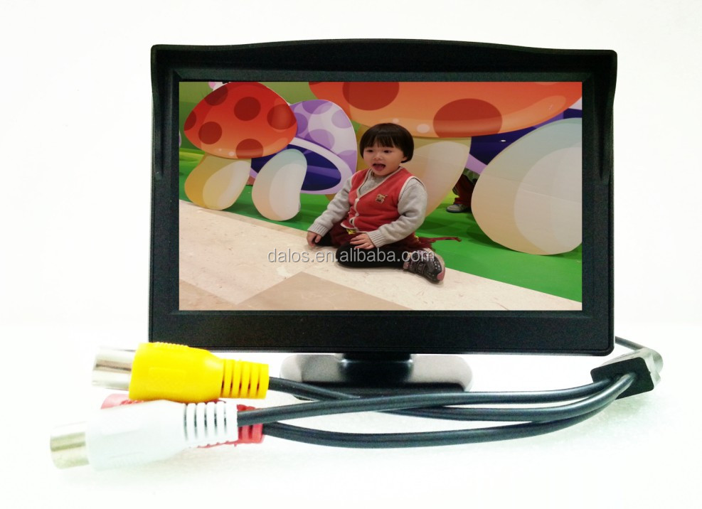 "5"" digital TFT LCD car monitor/High quality 800X480 HD 5 inch car monitor"