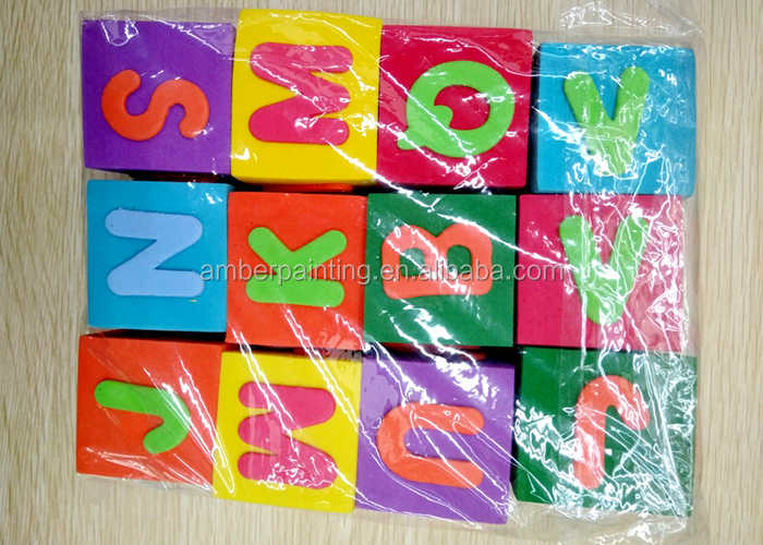 High quality custom letter number kids eva toys foam dice