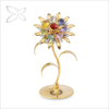 Classical Gold Plated Metal Sunflower Decorated with Crystal from Swarovski Home Decoration