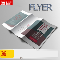 custom catalogue booklet printing folded brochure high quality clear paper flyer