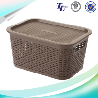 High strength factory supply large storage baskets with lids