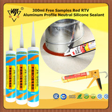 300ml Free Samples Red RTV Aluminum Profile Neutral Silicone Sealant
