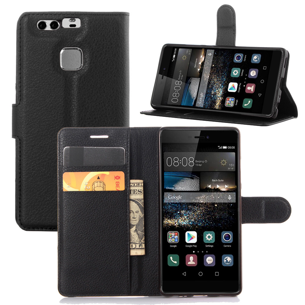 leather case for huawei p9 plus flip cover