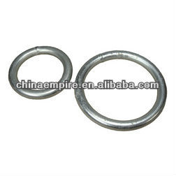 stainless steel or zin plated mooring ring for ship use or dock use