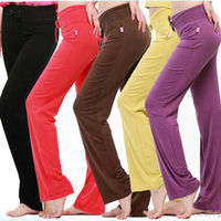 Basic Cotton Spandex Stretchable Sport Long Shirts Trousers for Women