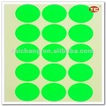Green Fluorescent Dot Self-adhesive label