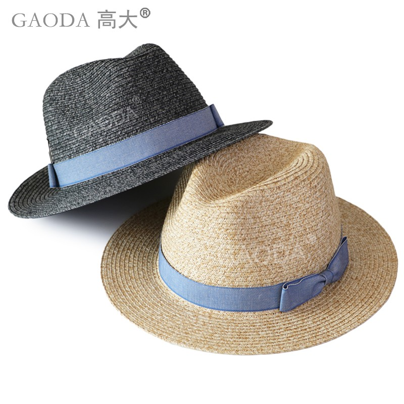 Ladies fashion bowknot decorated paper straw panama hat