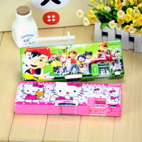 Factroy produce fashion stationery pencil box with custom printed
