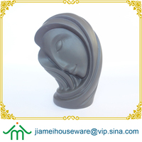 Modern grace home decorating ceramic showpiece in sleeping lady's face shape, elegant girl head ceramic sculpture