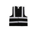 BSCI cheap black reflective safety vest with pockets for workwear