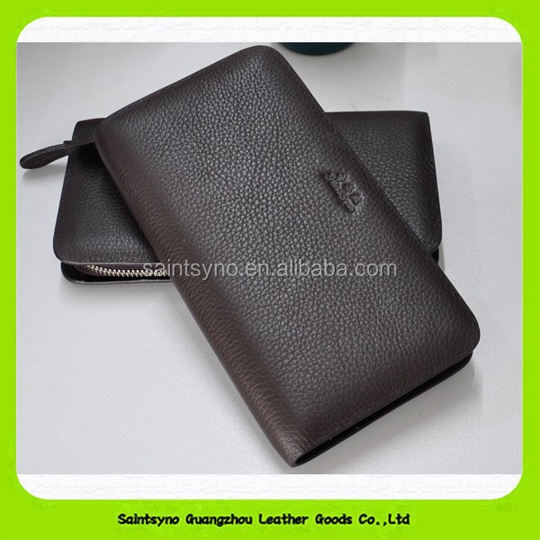 Travel organizer wallet, leather travel purse 15379