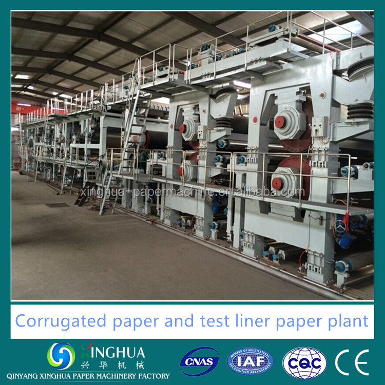 corrugated carton base paper roll production line machinery for recycled paper
