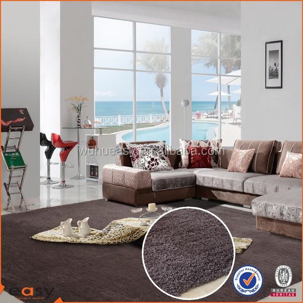 Coco Brown Microfiber Shaggy Commercial Carpet