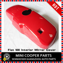 Brand New ABS Plastic UV Protected Mini Ray Style Red Color Interior Mirror Cover For Fiat 500