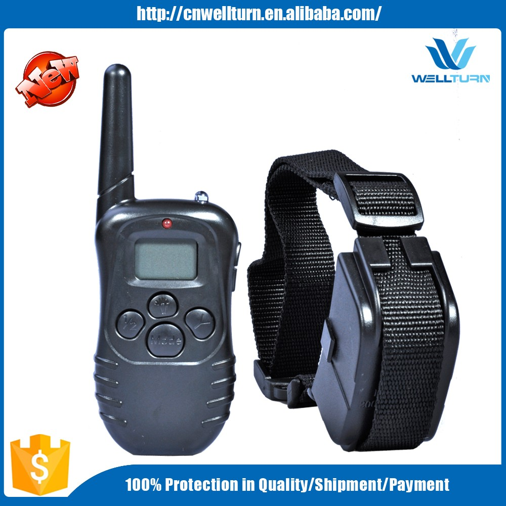 2016 China Remote Bark Stop Trainer Wholesale Dog Collars Dog Anti Bark Collar Dog Collar Remote Range 300M WT717