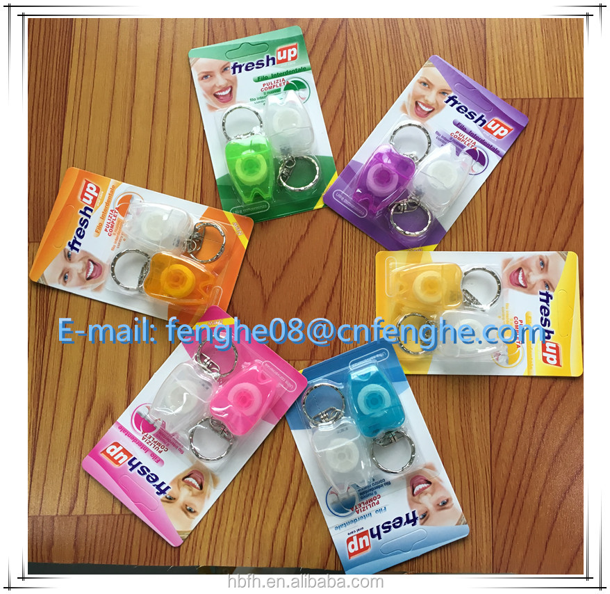 Colored green dental floss individual dental floss pick y shape dental floss pick