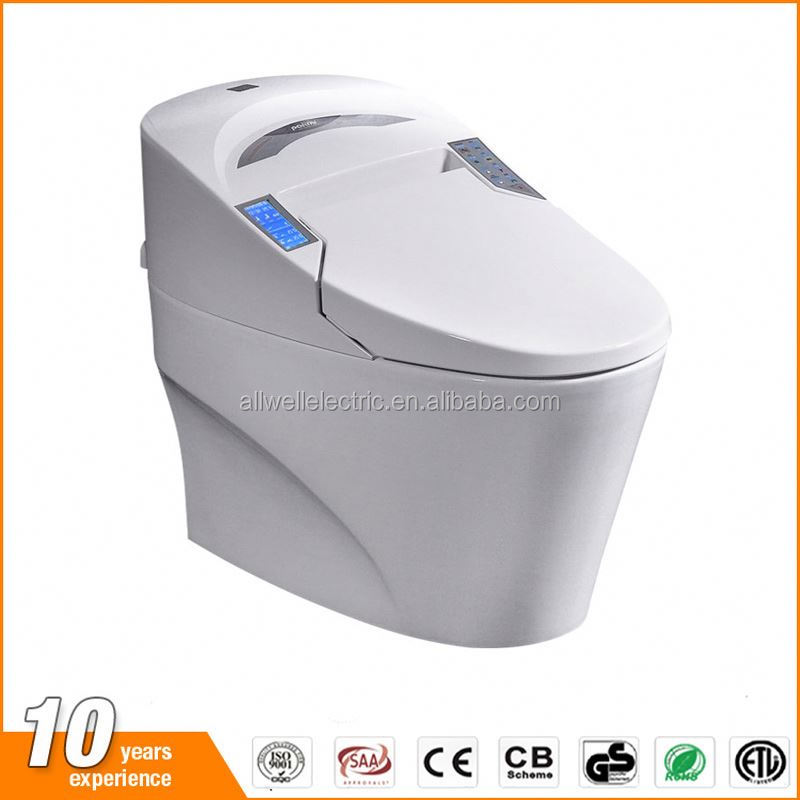 Warm air drying automatic operation sensor toilet auto flush with night light