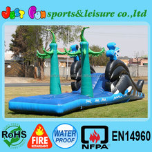backyard toddler Inflatable Whale water Slide for sale