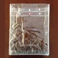 Clear pvc cosmetic haevy duty packaging bag