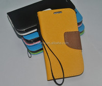 Wallet Stand Flip Cover Cross Grain Leather Case For Samsung Galaxy S5 i9600