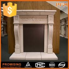 all hand carved outdoor clay fireplace