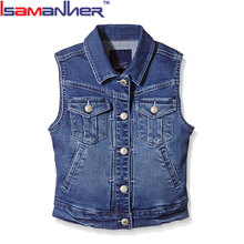 Wholesale price kids summer singlet latest jeans tops girls