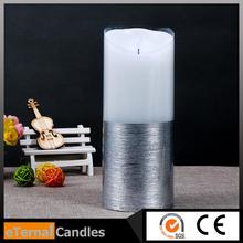 handy used smart surface led candle led candle light with swirling glitter
