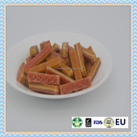 pet food dry chicken cheese and carrot strip dry cat snack