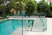 3-19mm clear tempered glass pool fencing with AN/NZS 2208:1996, BS6206, EN12150