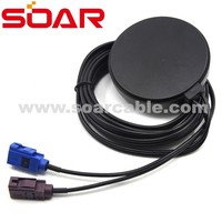 GPS and GSM dual model antenna with Fakra code C& D