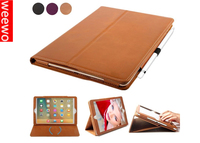 Genuine Cowhide Leather Smart Stand Cover for iPad Air 2, Genuine Smart Leather Flip Cover for iPad Air 2