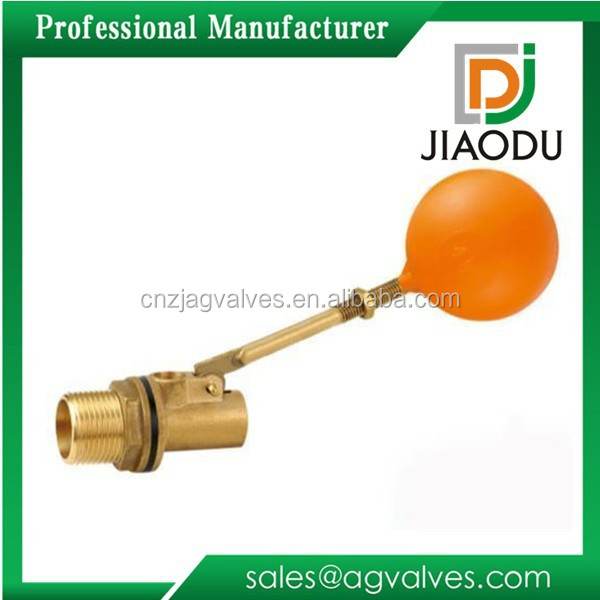 factory price lead free customized forged 1/2'' or 3/4'' cw617n brass copper male threaded ball of floating valve