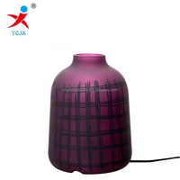 GLASS PURPLE LED TABLE LAMP