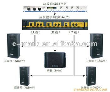 DA4623 multi-channel digital audio amplifier