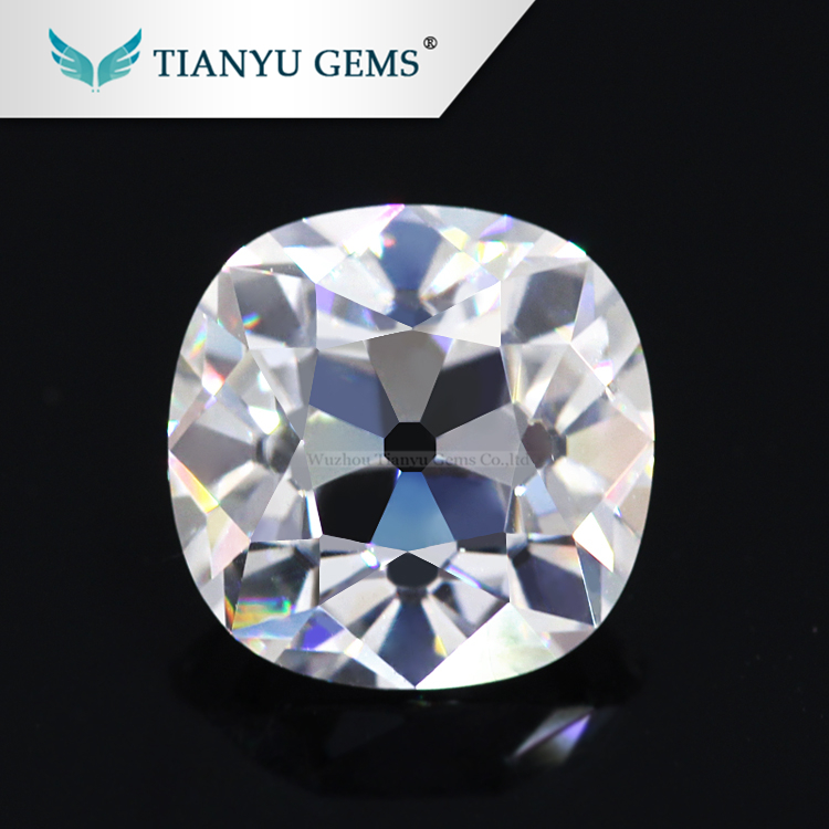 7X7mm Old European OEC cushion cut forever one moissanite loose diamond <strong>manufacturing</strong> direct from factory