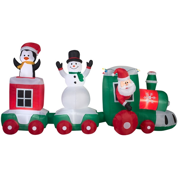 2017 Outdoor christmas ornaments , Yard inflatable decorations , CAR TRAIN SCENE