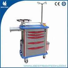 BT-EY001 Emergency surgery room hospital trolley medication stainless steel trolley
