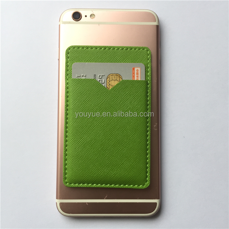 Promotional Adhesive PU leather Mobile Phone Card Holder