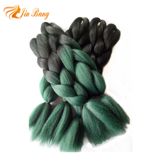 Wholesale 100g 24 inch 60 colors ombre color synthetic jumbo braid hair ombre braiding hair