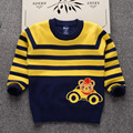 Stripe round neck fall out boyskinz images Bear designs sweaters kids designer fashion fall 2017