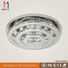 high quality CE certificate luxury round crystal ceiling lamp