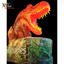 Lifelike inflatable jurassic dinosaur with led lighting inside / huge inflatable T-rex head for decoration