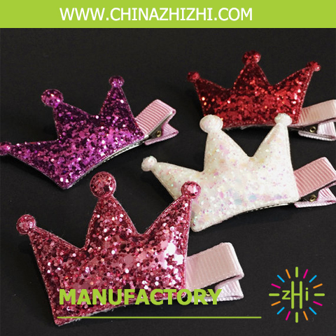 fashion high quality queen crown hair clips, fancy hair accessories